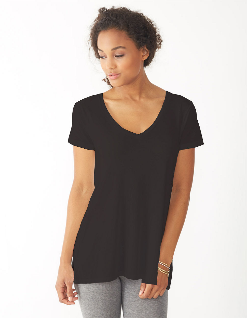 Alternative apparel v neck t shirt in black lyst V neck black t shirt