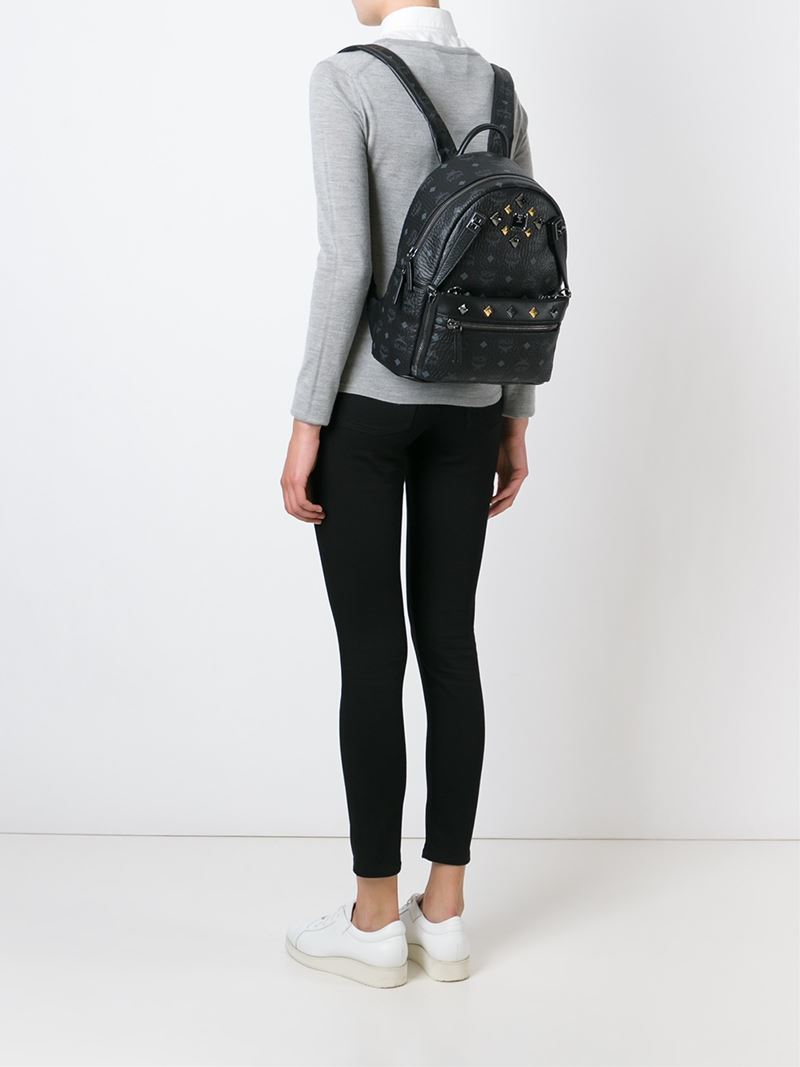 MCM Small 'Dual Stark' Backpack in Black