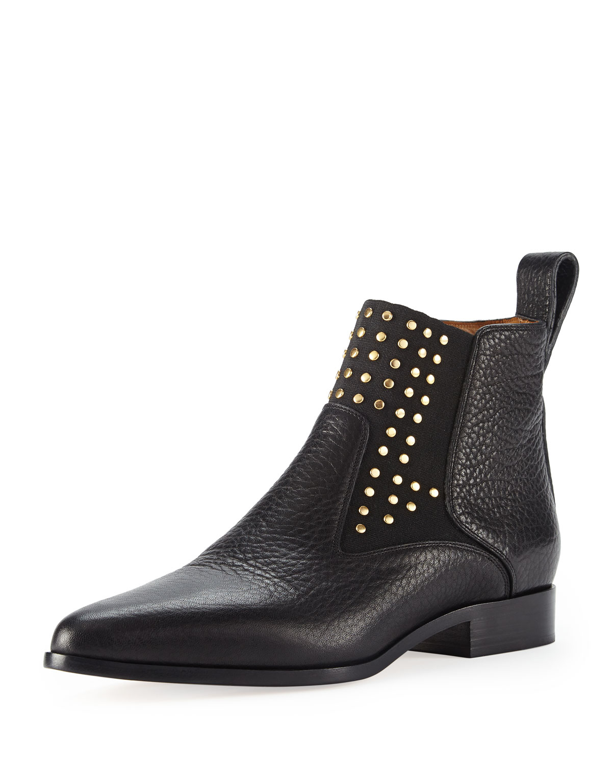 chlo studded leather chelsea boot in black lyst. Black Bedroom Furniture Sets. Home Design Ideas
