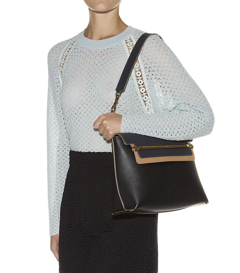 Chlo�� Medium Clare Shoulder Bag in Black | Lyst