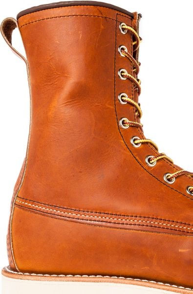 Red Wing The 8 Inch Moc Boot In Brown For Men Original
