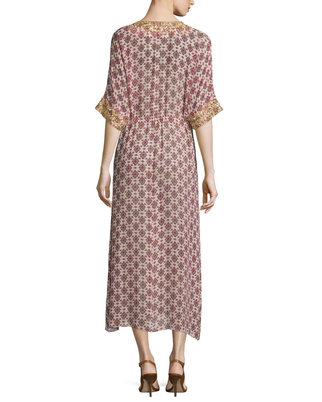 Lyst Figue Calista Medallion Print Silk Dress