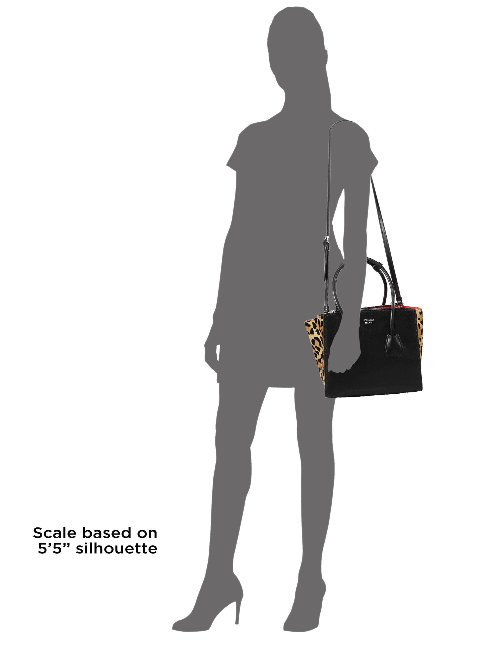 Prada Small Leather \u0026amp; Leopard-print Calf Hair Twin Pocket Tote in ...