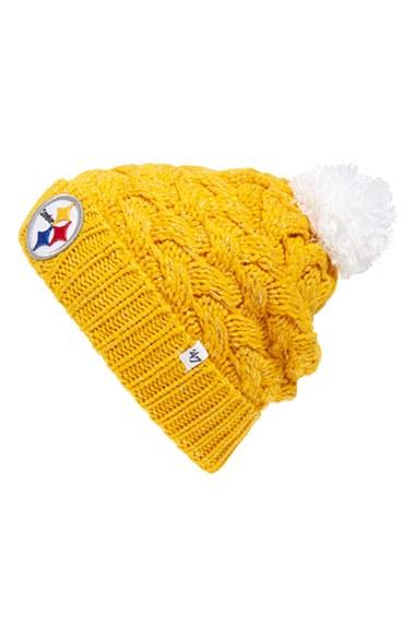 Lyst - 47 Brand  pittsburgh Steelers  Pom Beanie - Metallic in Yellow cc2d4ce8b