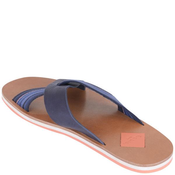 f9a132230802 Paul Smith Mens Kohoutek Leather Sandals in Blue for Men - Lyst