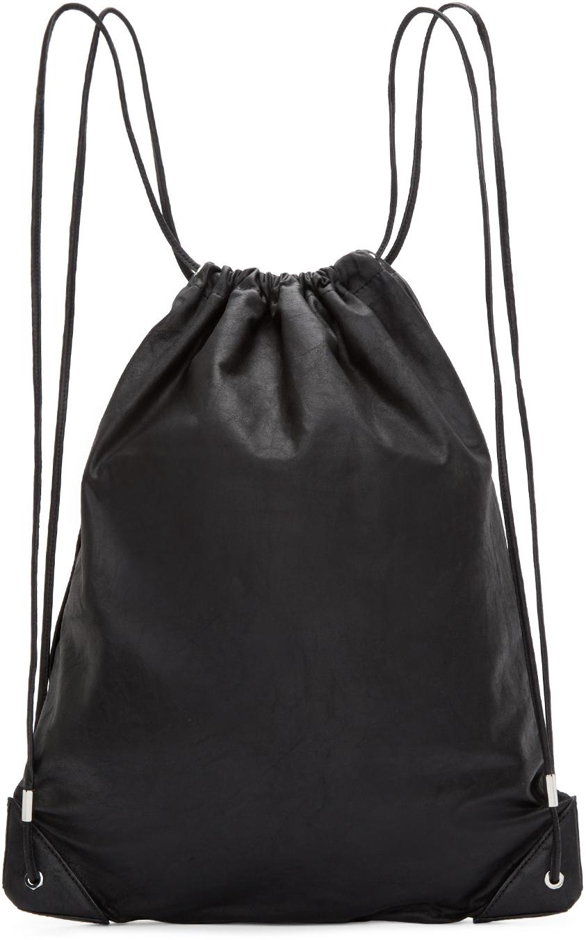 Alexander Wang Black Leather Gym Bag In For Men