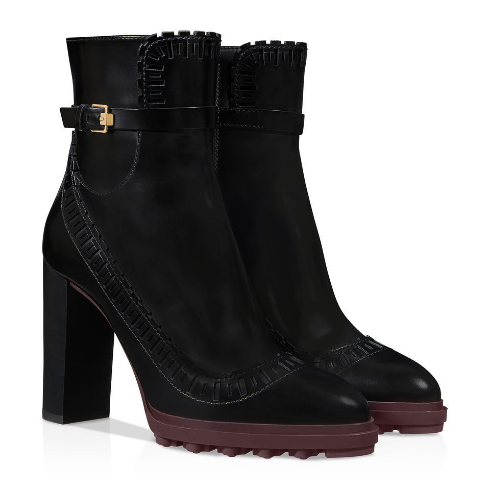 Todu0026#39;s Leather Ankle Boots In Black | Lyst