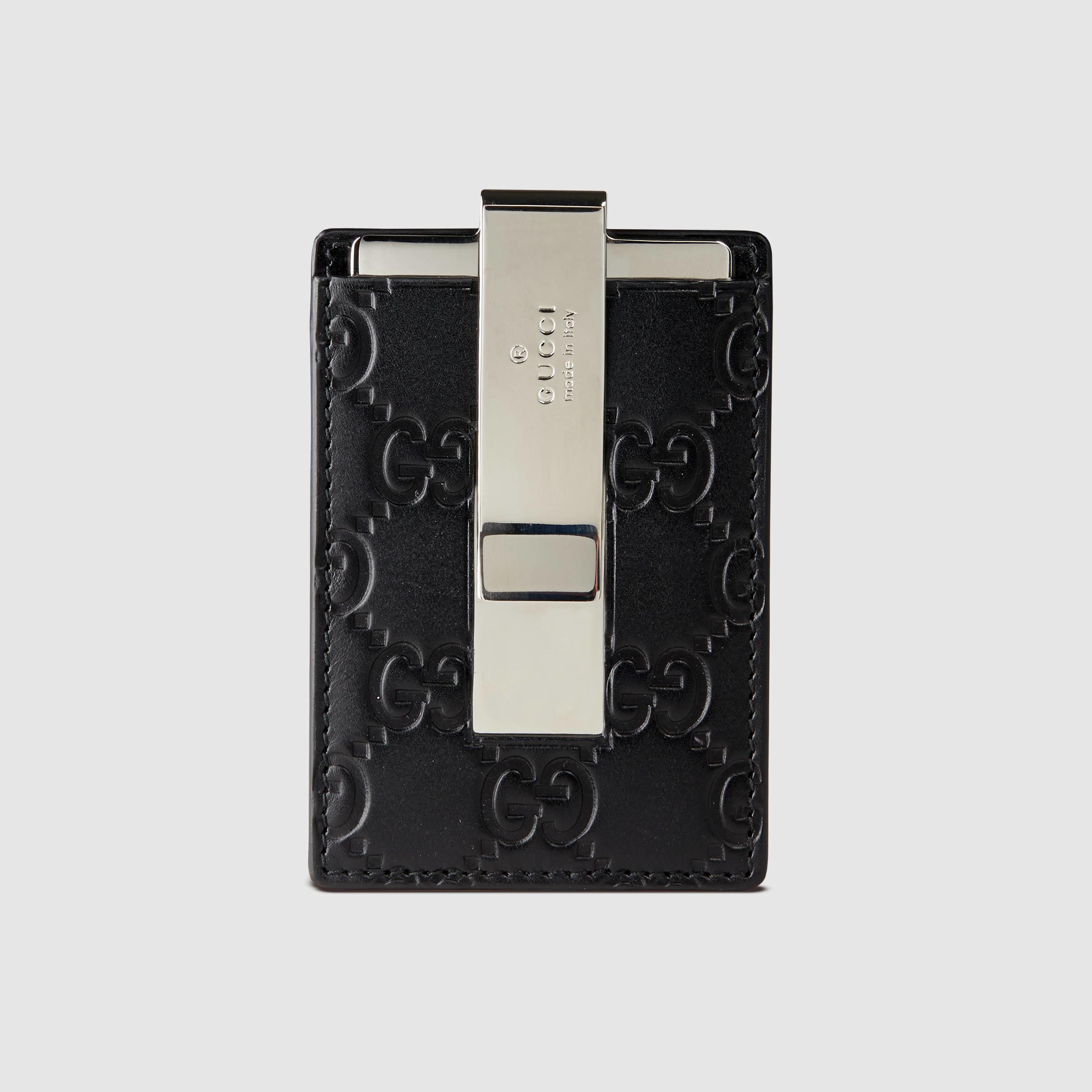 4e31ca6ca33 Lyst - Gucci Signature Money Clip in Black for Men