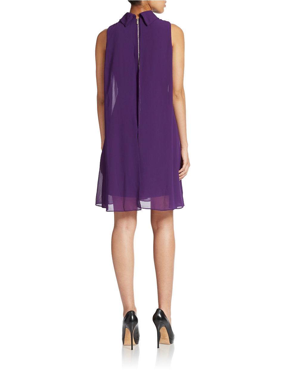 Lyst Vince Camuto Trapeze Cocktail Dress In Purple
