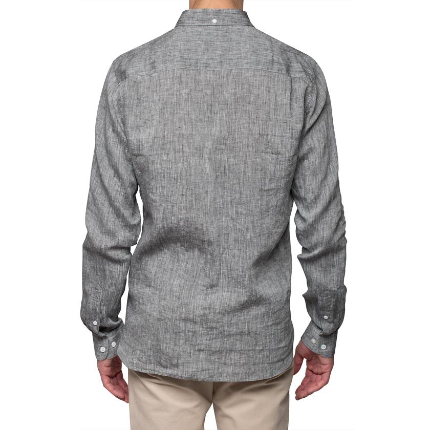 Ymc Black Linen Shirt in Black for Men | Lyst