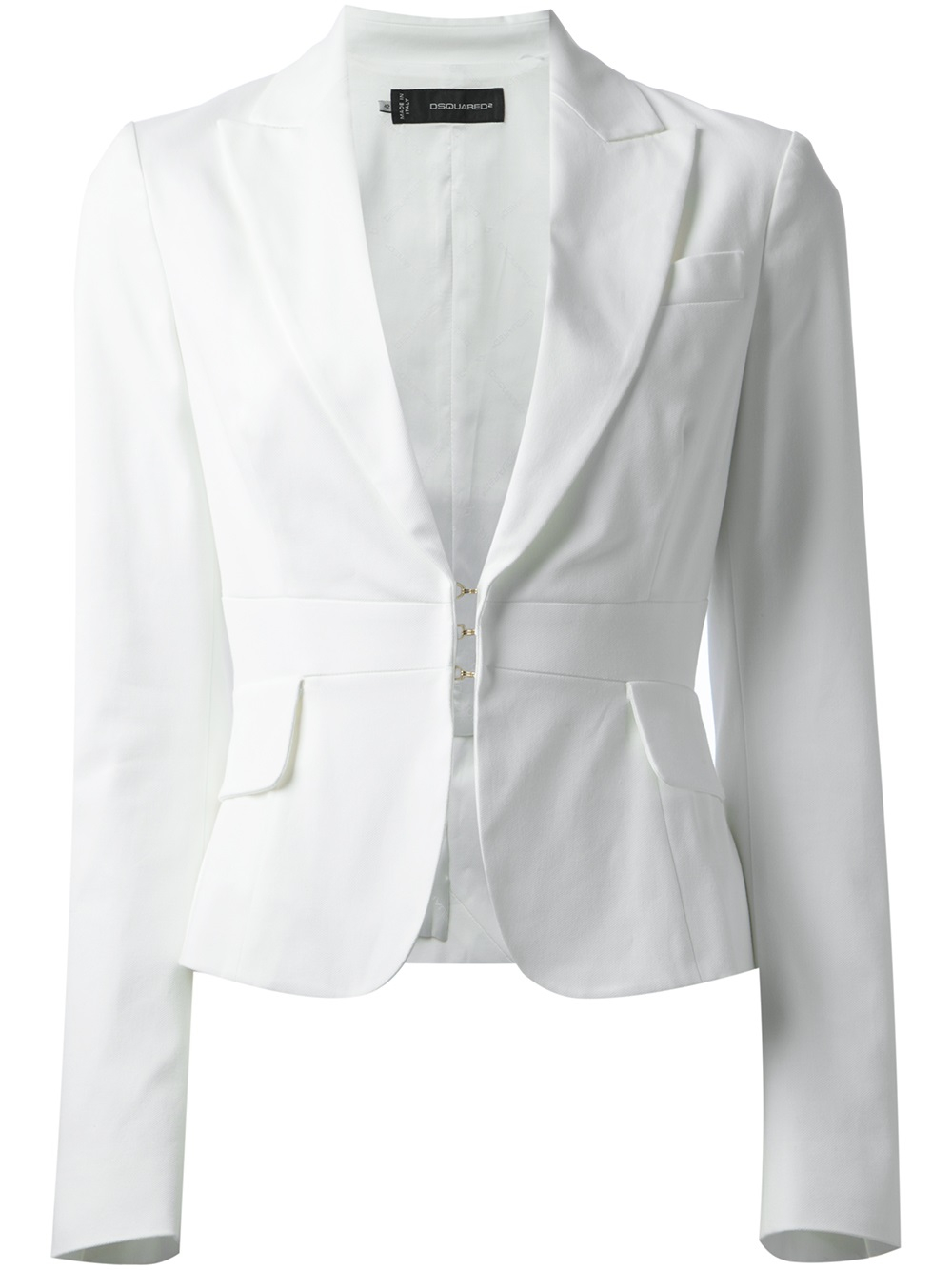 Dsquared 178 Cropped Blazer In White Lyst