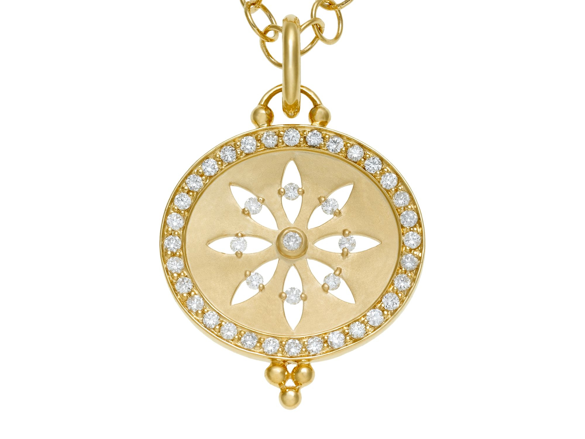 temple st clair 18k yellow gold pav 233 halo cut out