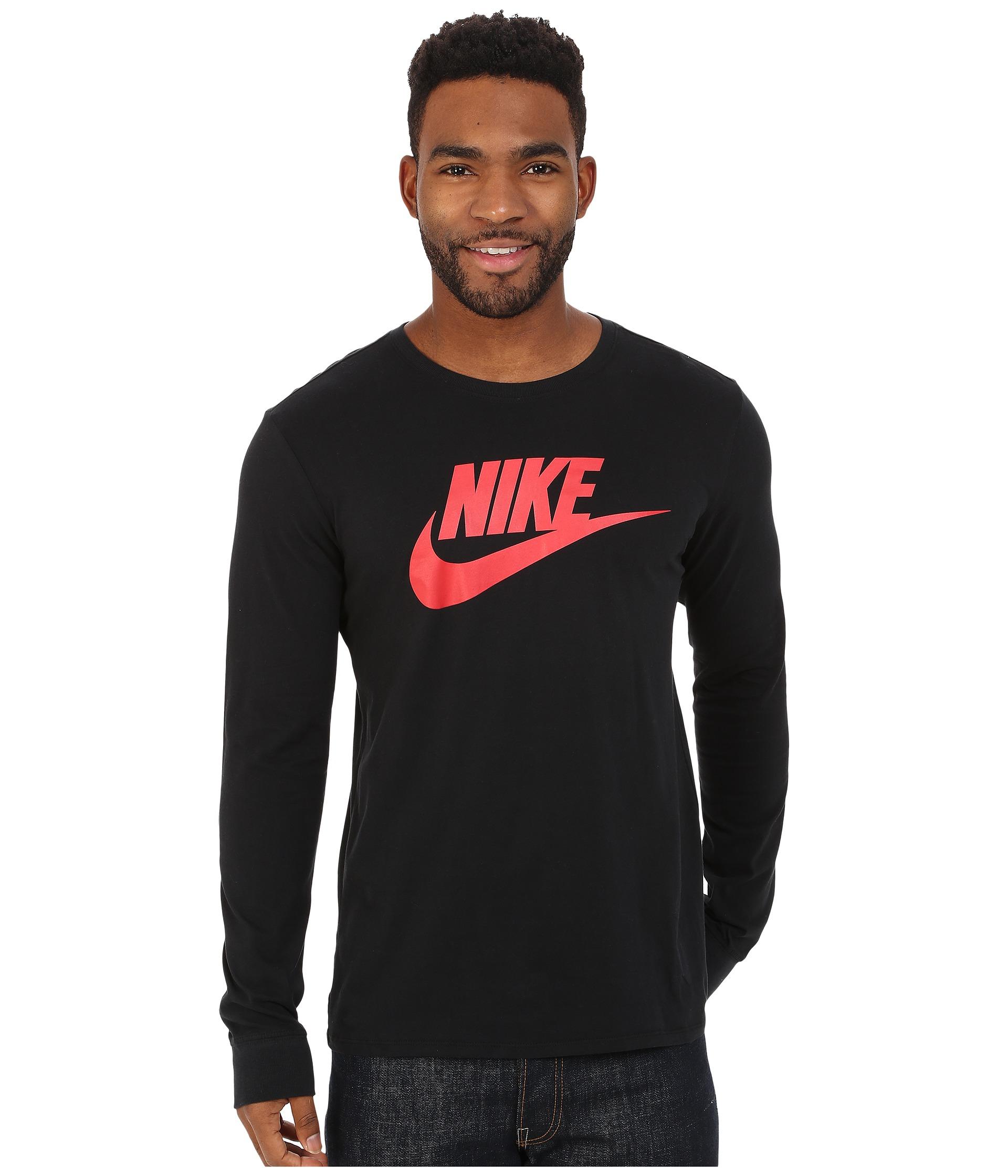c79cd3869f93 Lyst - Nike Futura Icon Long Sleeve Tee in Black for Men