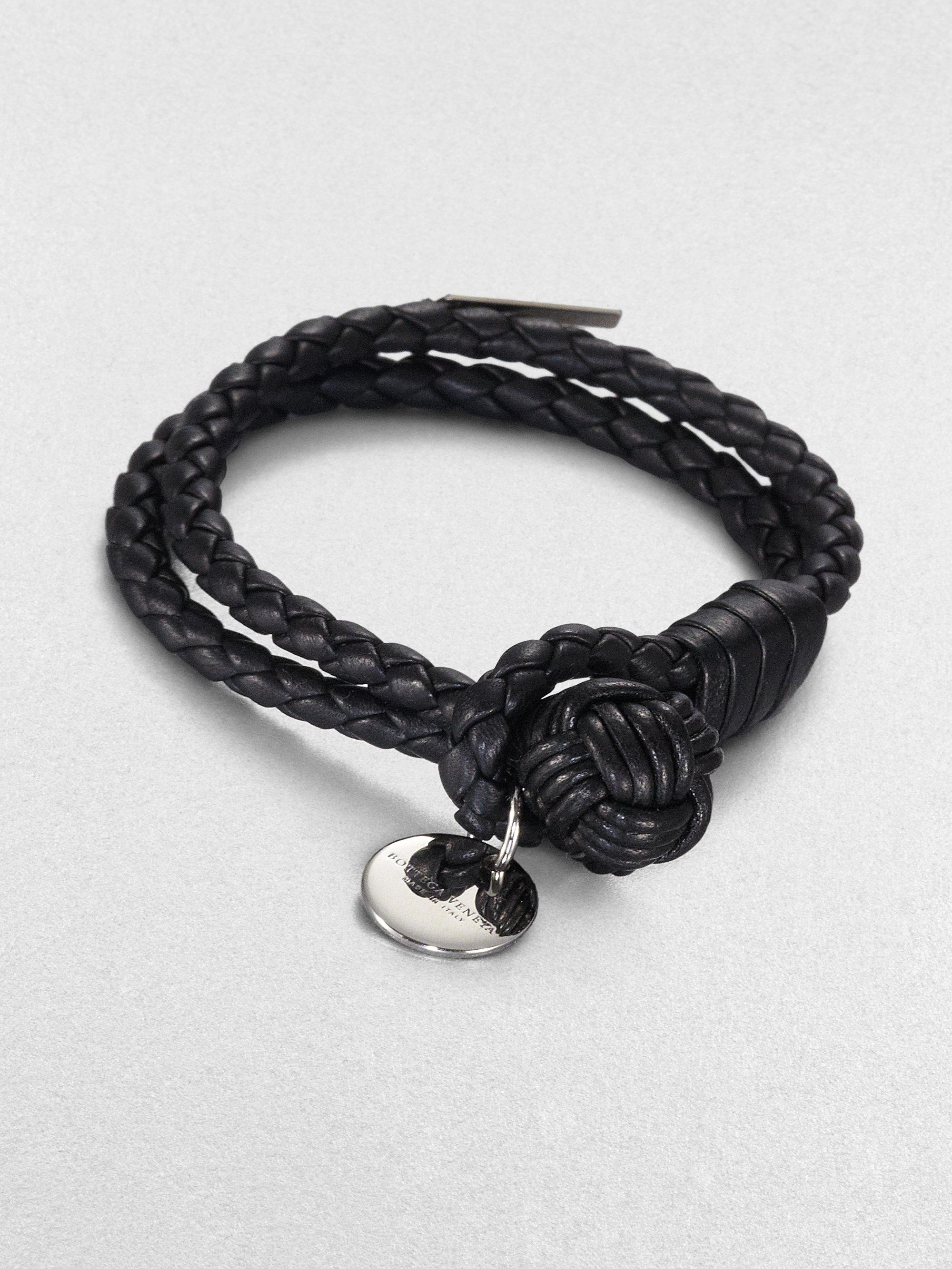 Black Intrecciato Knot Bracelet Bottega Veneta ssH0zz33oA