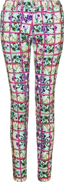 Mary Katrantzou Jeans Foli Rose Pink in Multicolor (rose) - Lyst