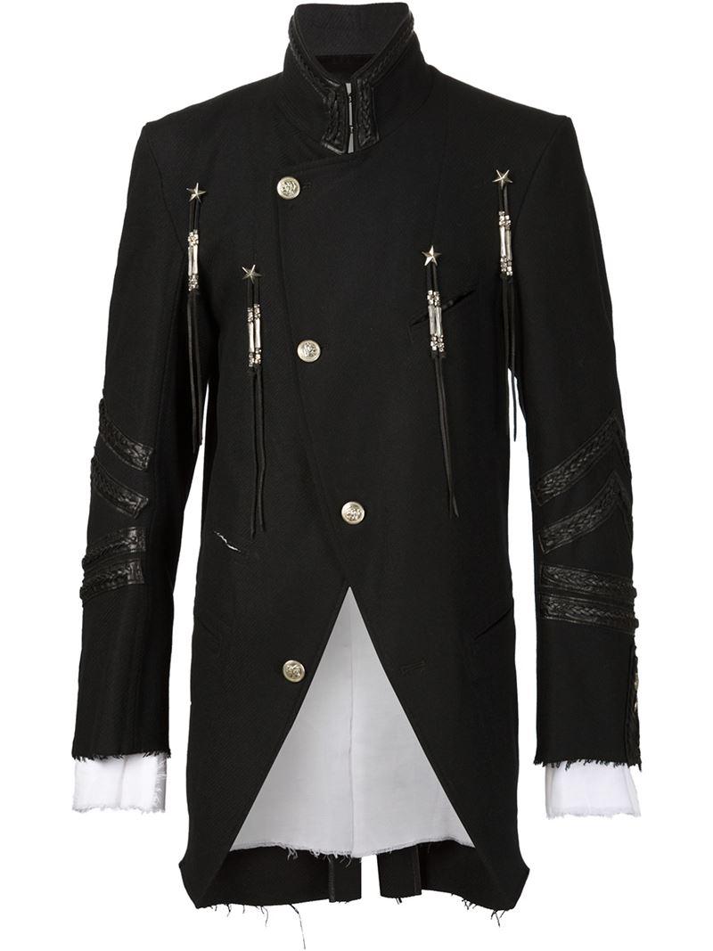 The soloist Hi Low Military Coat in Black for Men   Lyst