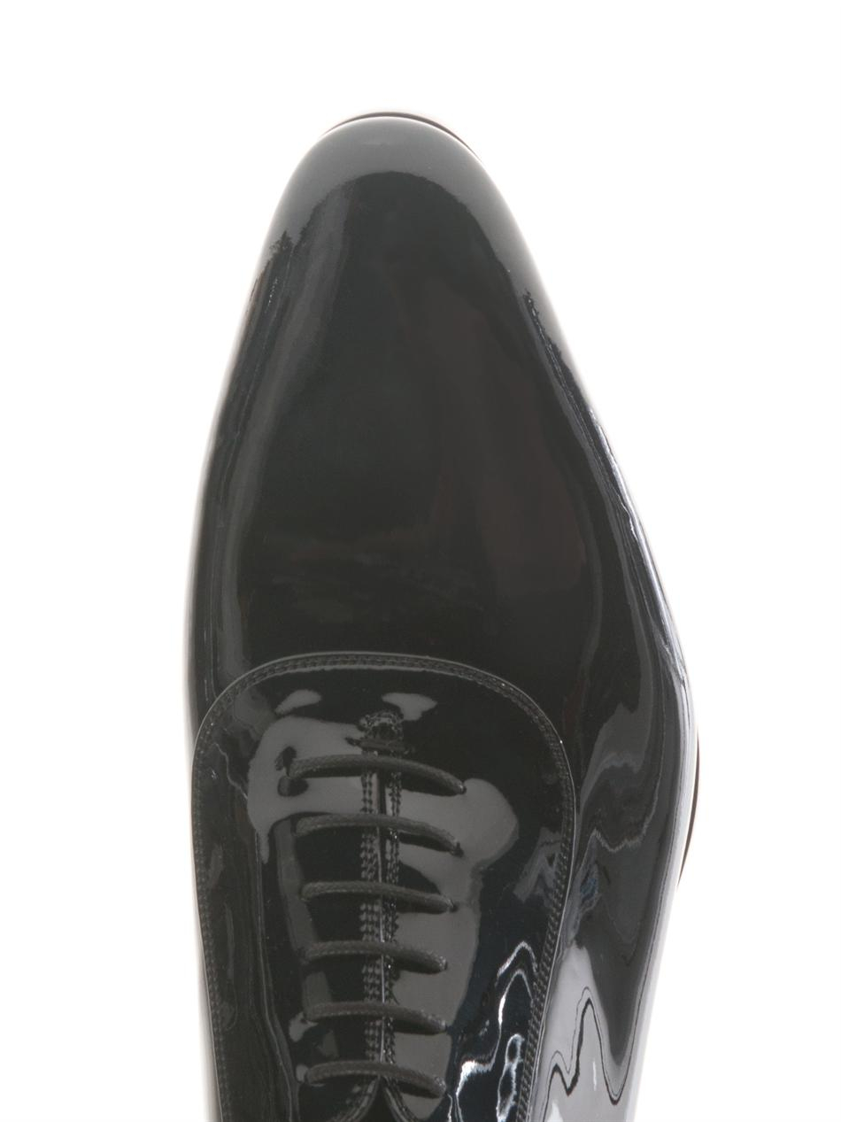 Gucci Patent Leather Lace-Up Shoes in