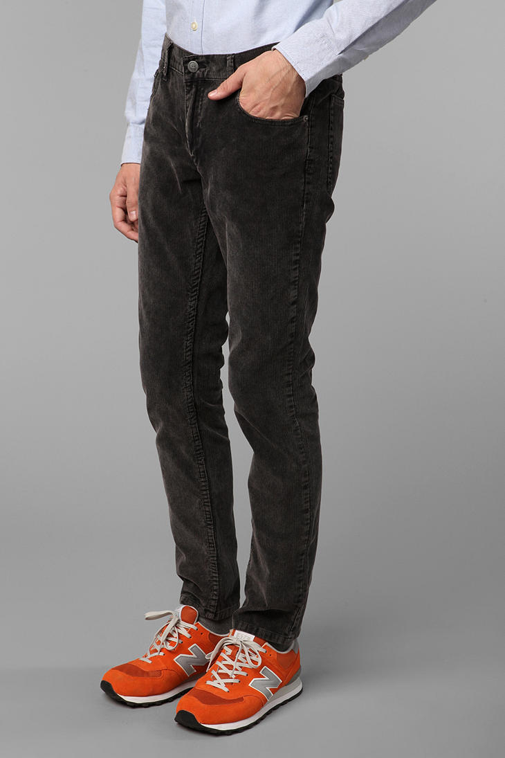 Cheap monday Four Ice Wash Corduroy Pant in Black for Men | Lyst