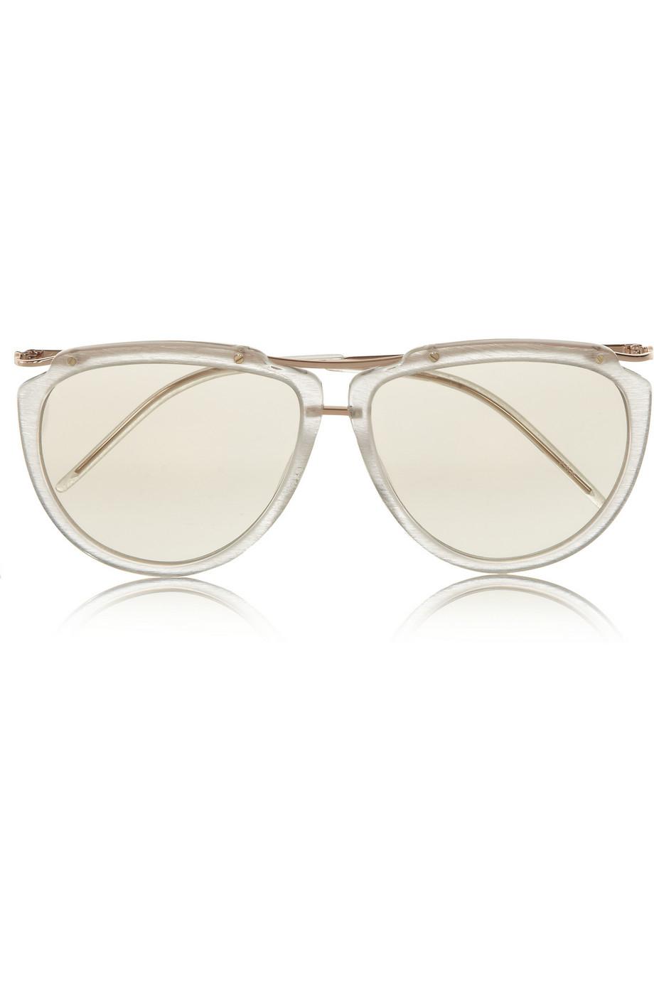 Jil Sander Aviator Acetate And Metal Sunglasses