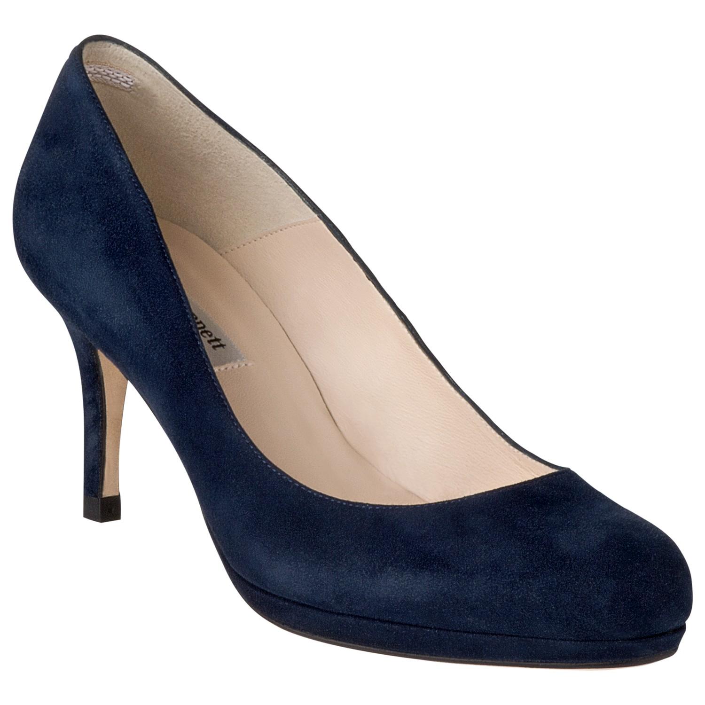 l k lkbennett sybila suede platform court shoes in