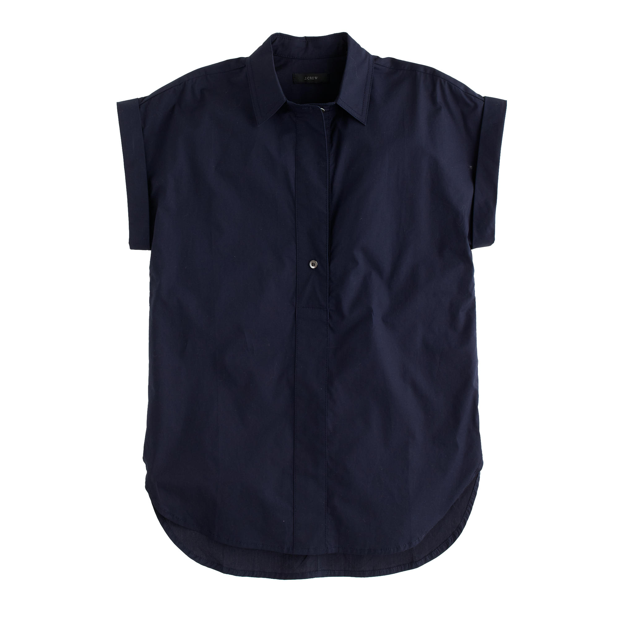 Tall Short Sleeve Popover Shirt In Blue Lyst