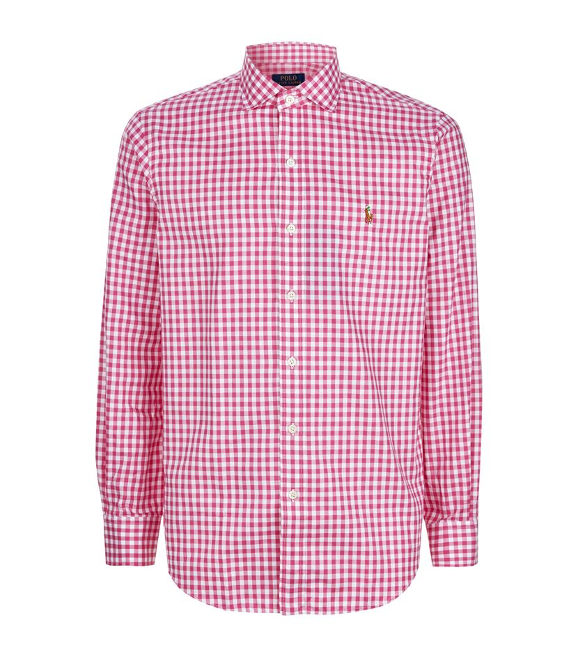 41db094cfbedc ... official store purchase polo ralph lauren gingham estate sport shirt in  pink for men lyst ce7c5
