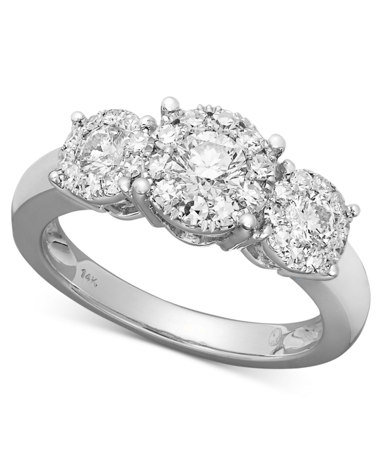 macy s engagement ring in 14k white gold 1 ct t