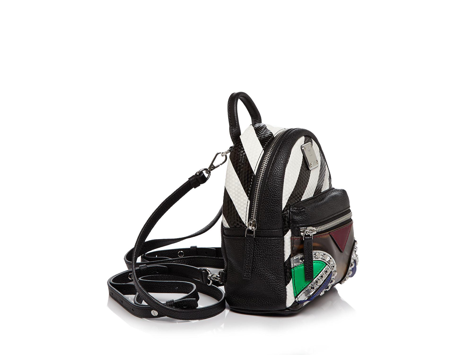 MCM Roboter Series Mini Backpack in Black