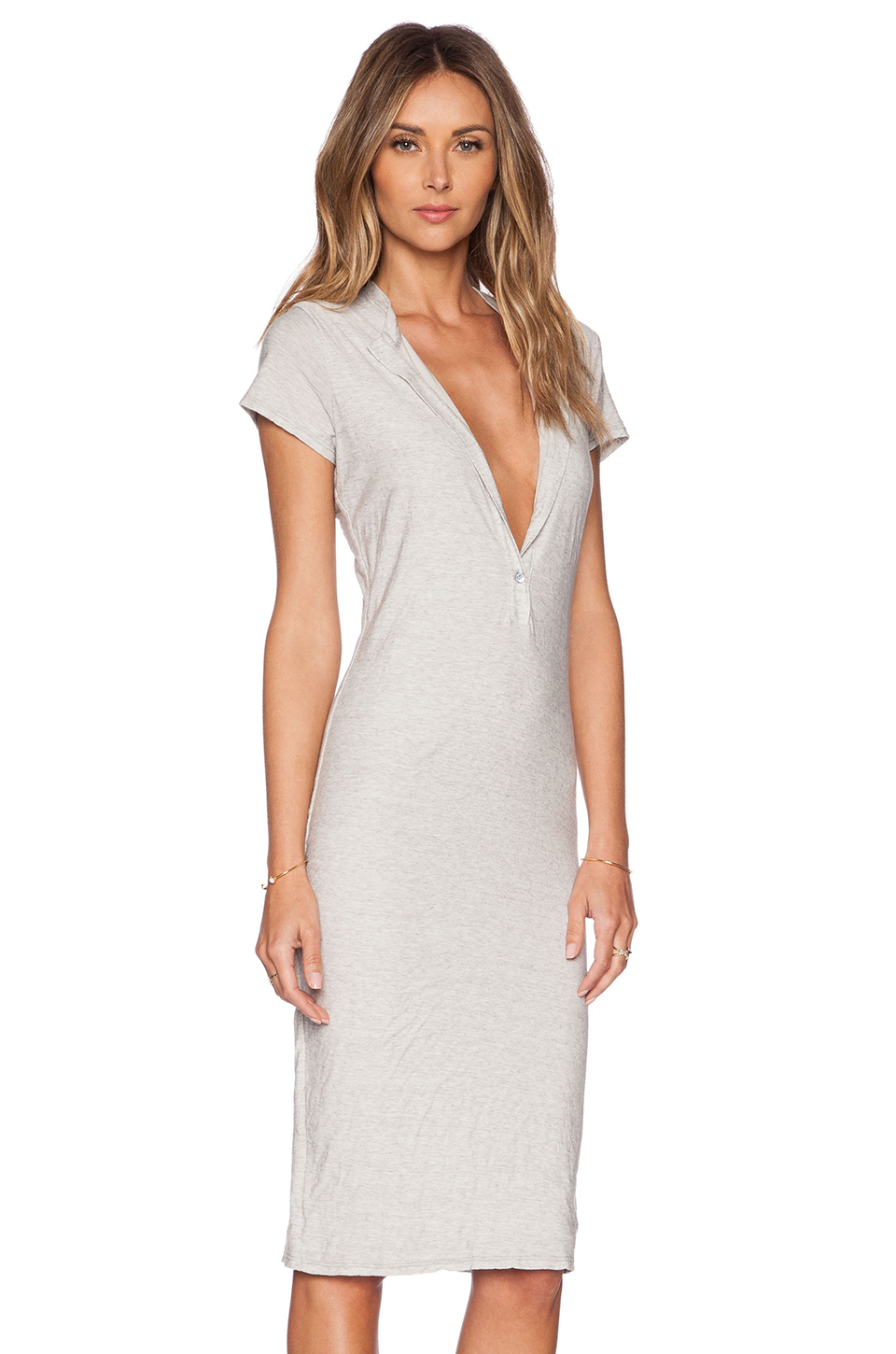 James perse henley dress in metallic lyst for James perse henley shirt