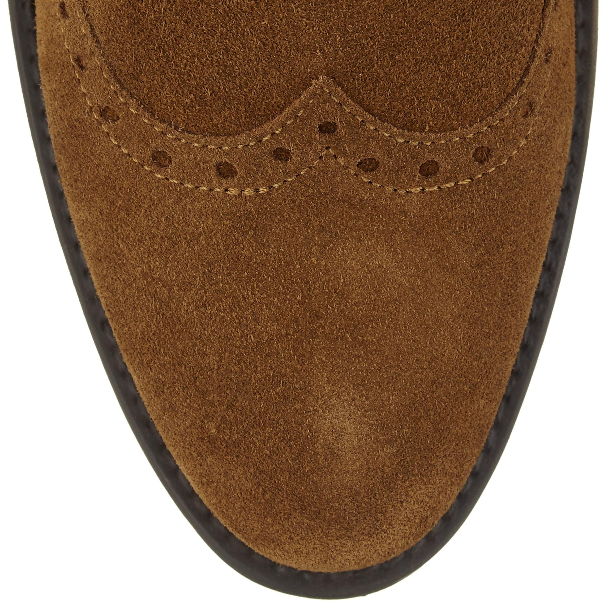 John Lewis Denim Trieste Flat Chelsea Ankle Boots in Tobacco Suede (Brown)