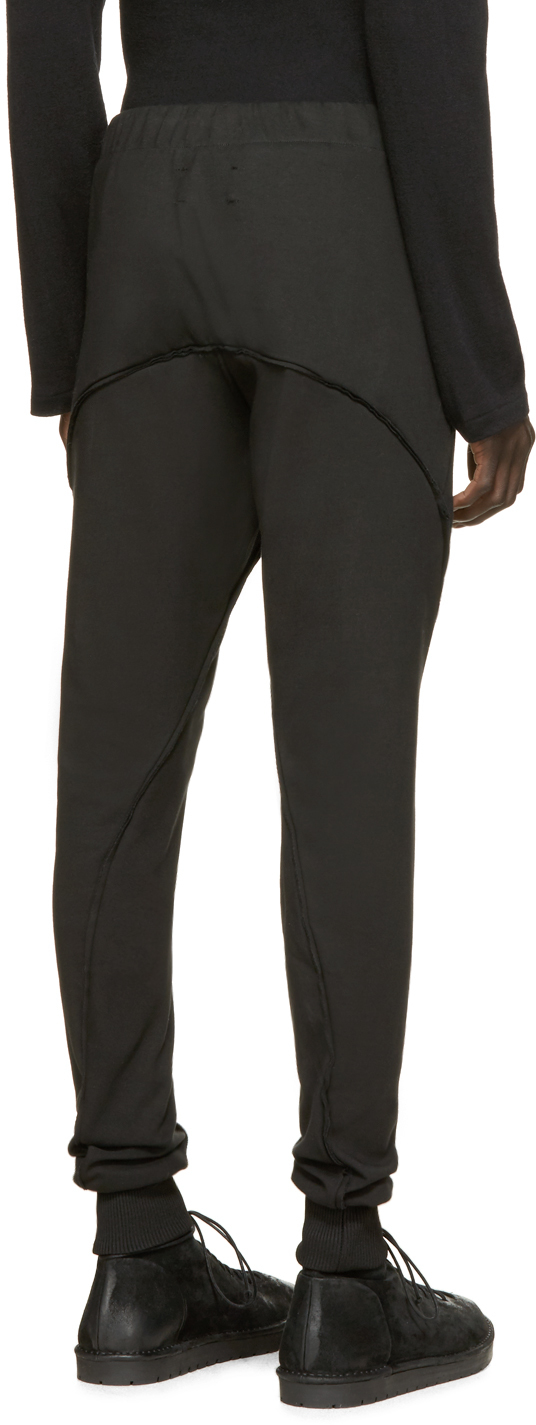 Song For The Mute Black Slim Lounge Pants for Men