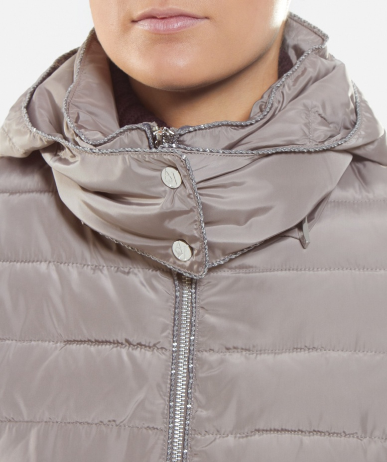 58b2a0e0c Armani Jeans Gray Long Hooded Puffa Jacket