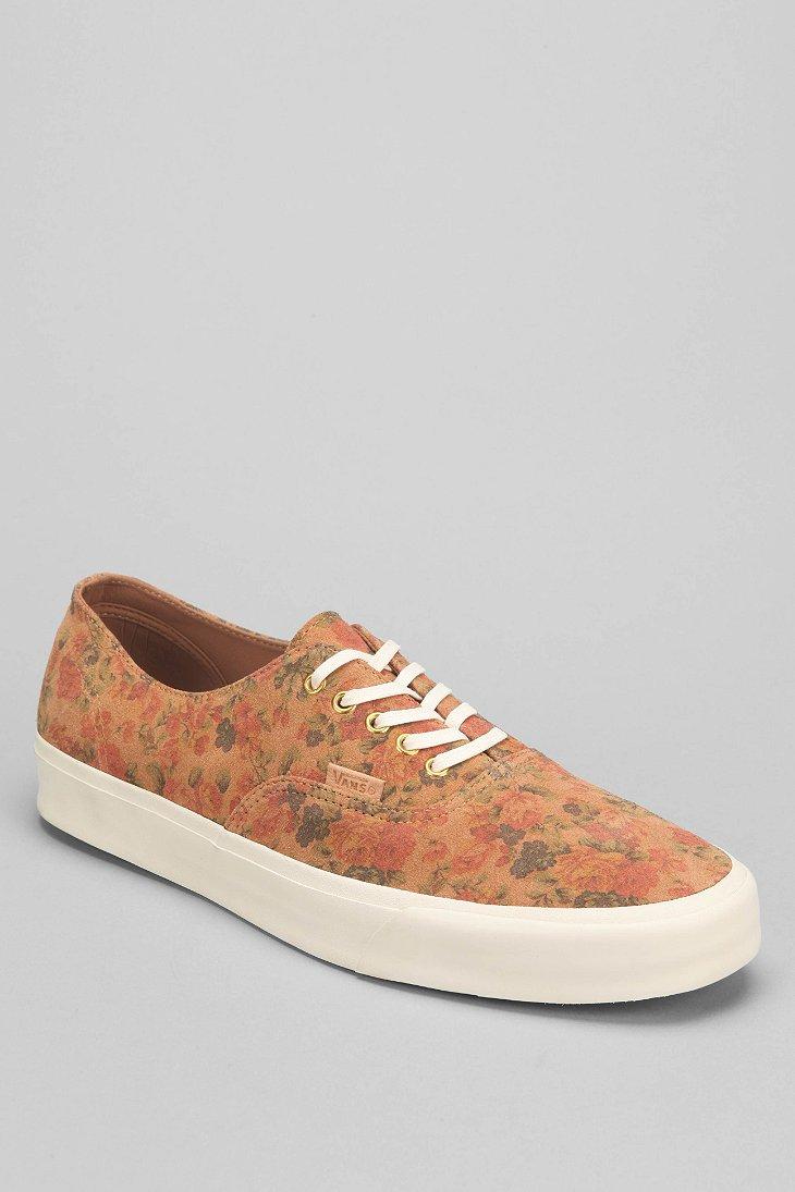 Vans Authentic Floral Mens Suede Sneaker For Men Lyst
