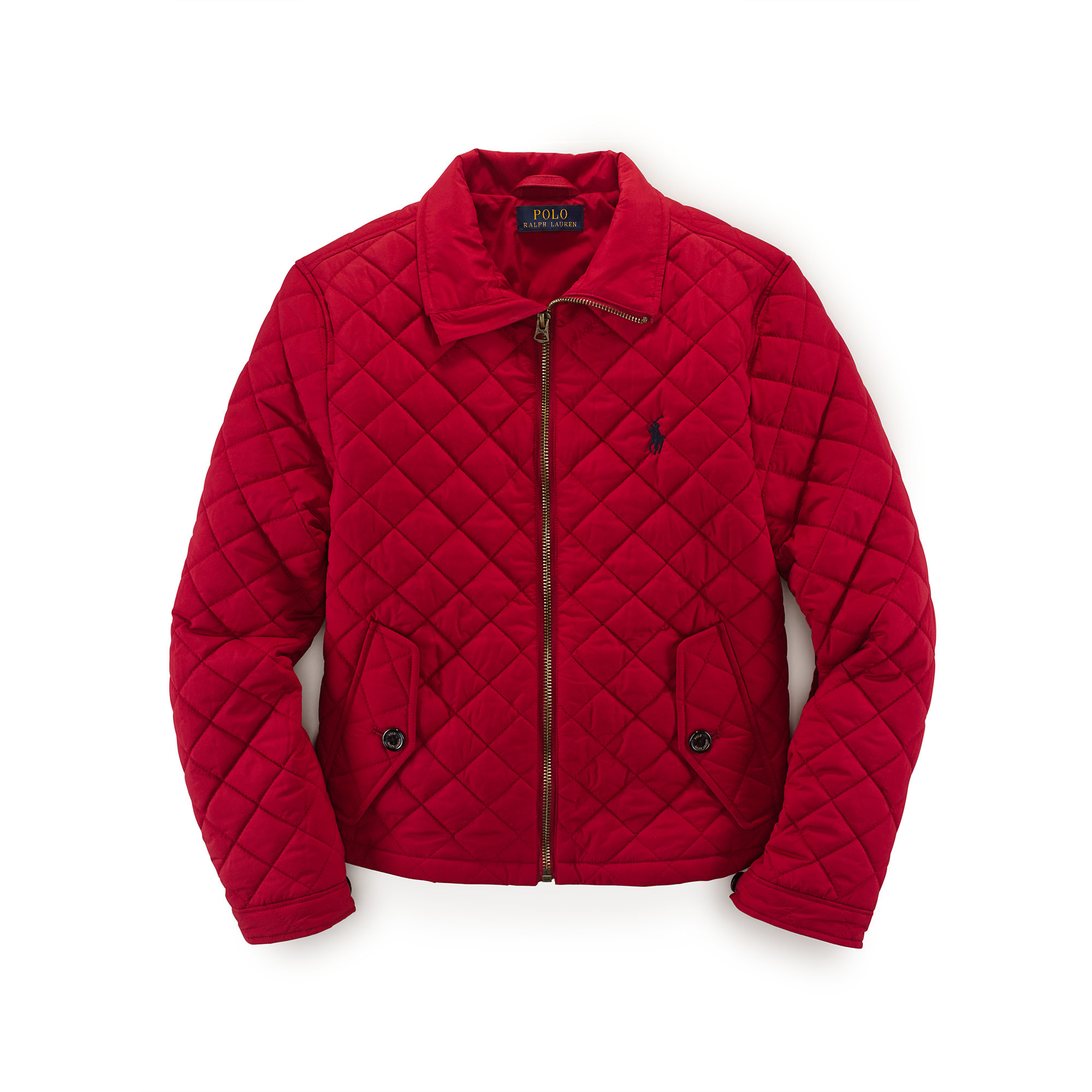 Ralph lauren Lightweight Quilted Jacket in Red | Lyst