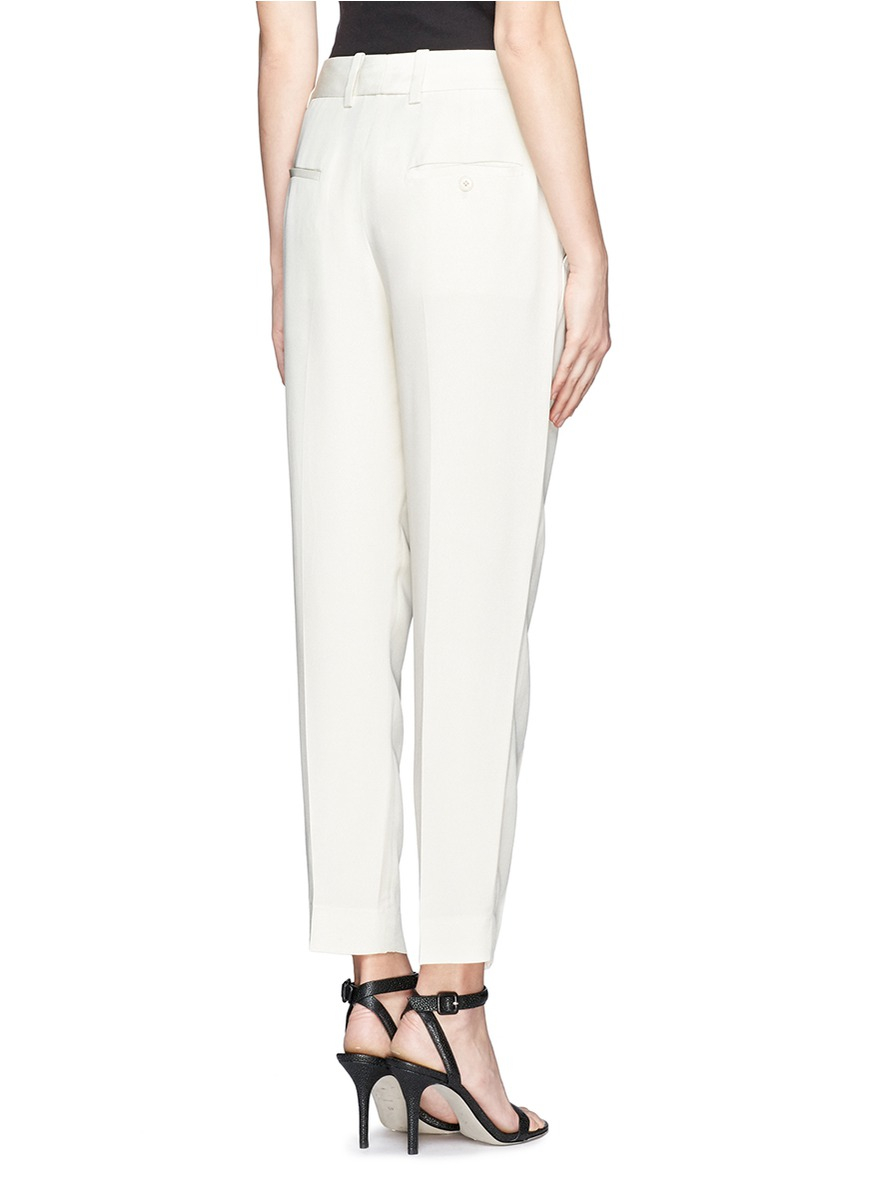 Lyst - 3.1 phillip lim Pleated Silk Pants in White