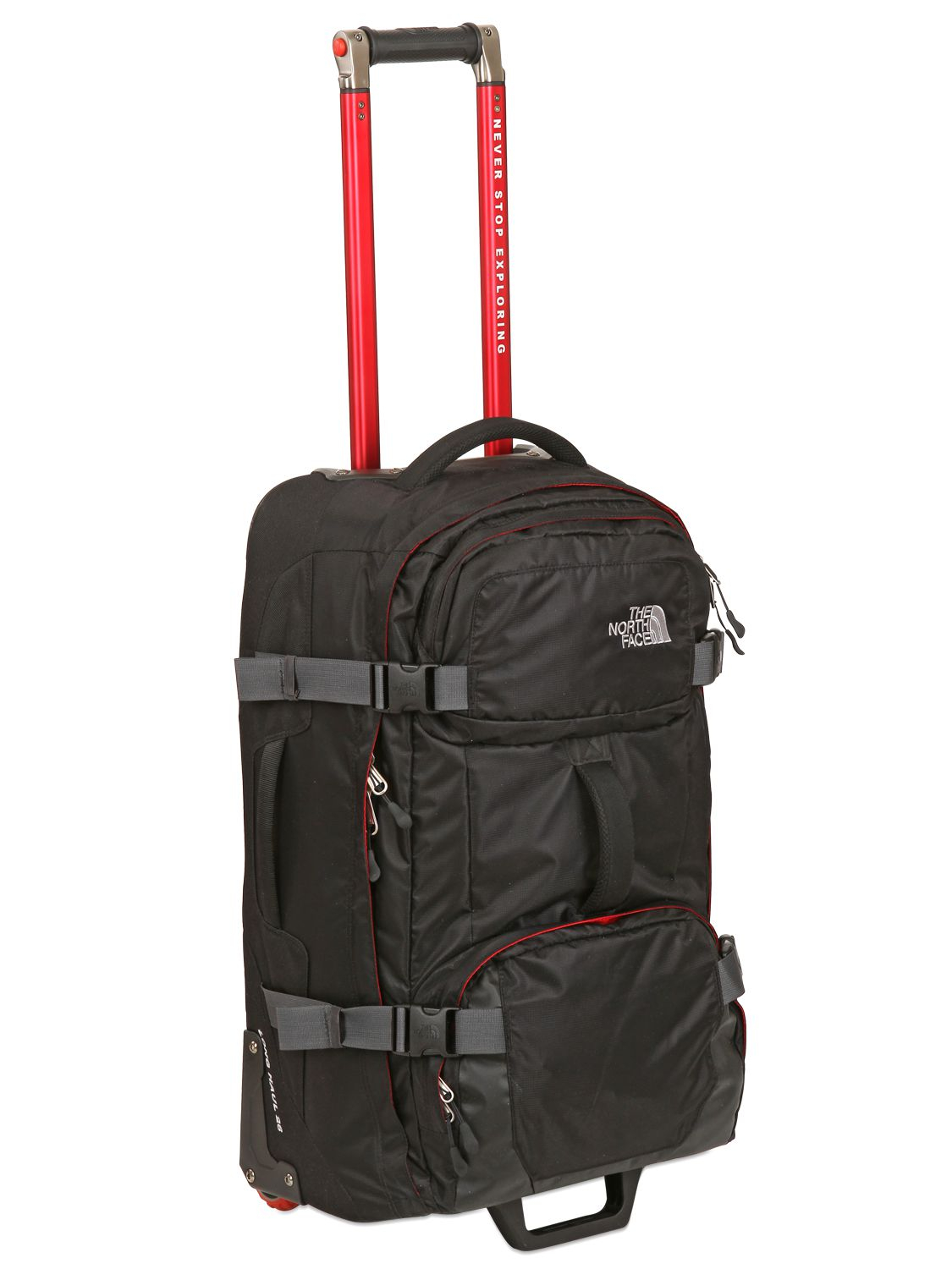 lyst the north face 26 longhaul recycled nylon trolley in black for men. Black Bedroom Furniture Sets. Home Design Ideas