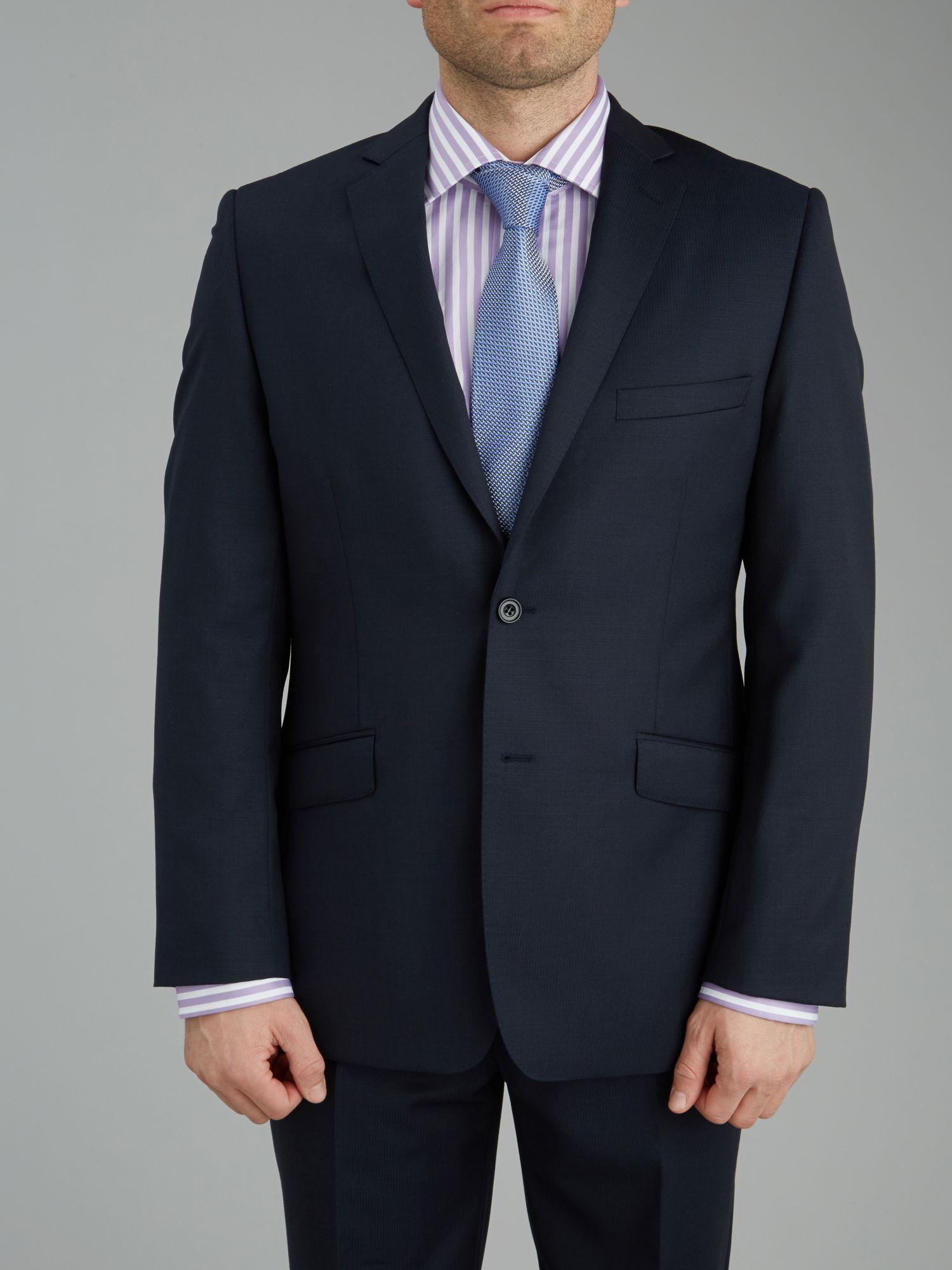 Paul Costelloe Modern Fit Navy Semi Plain Suit Jacket in Blue for Men