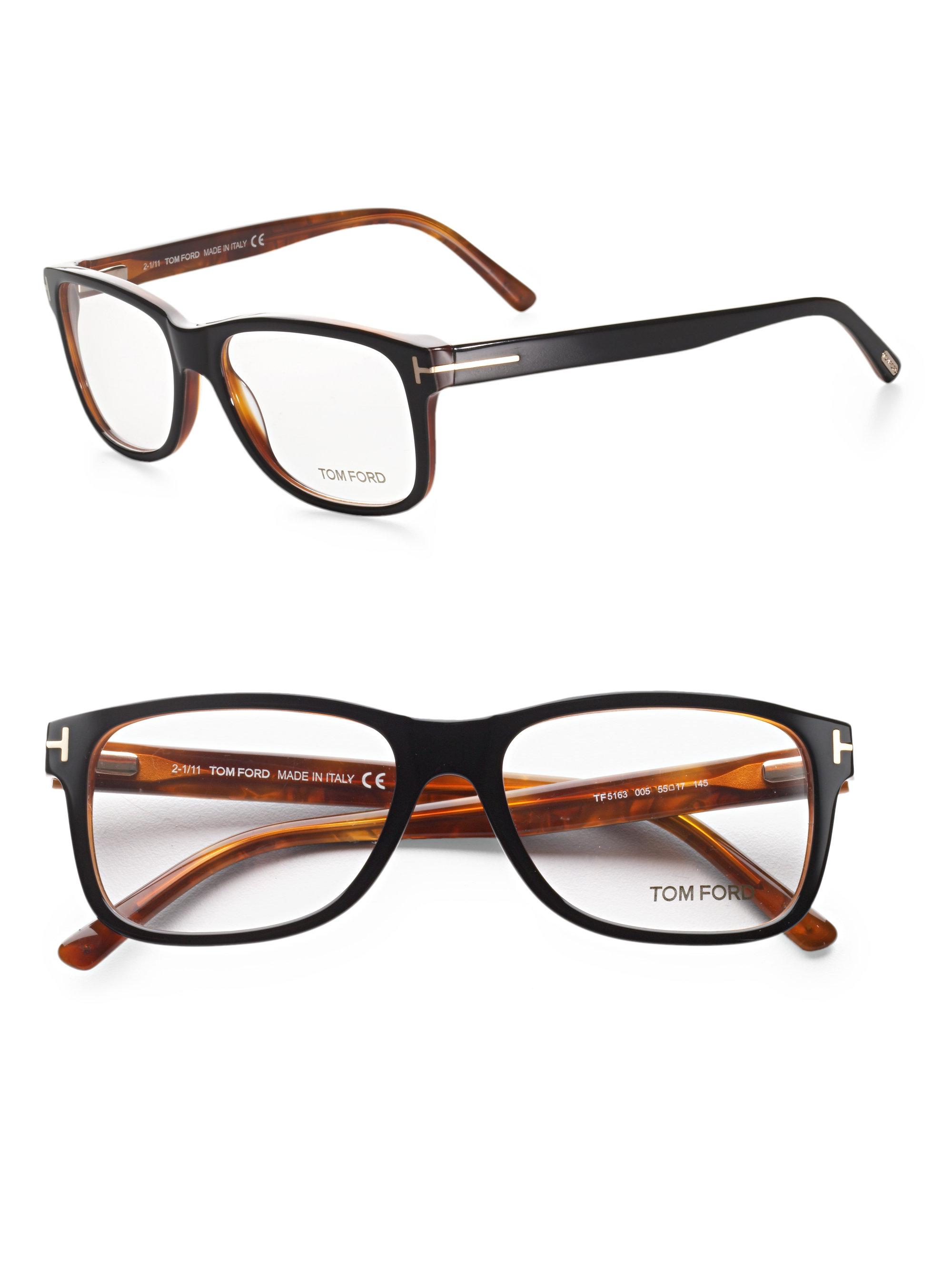 tom ford 5163 square optical frames in black for lyst