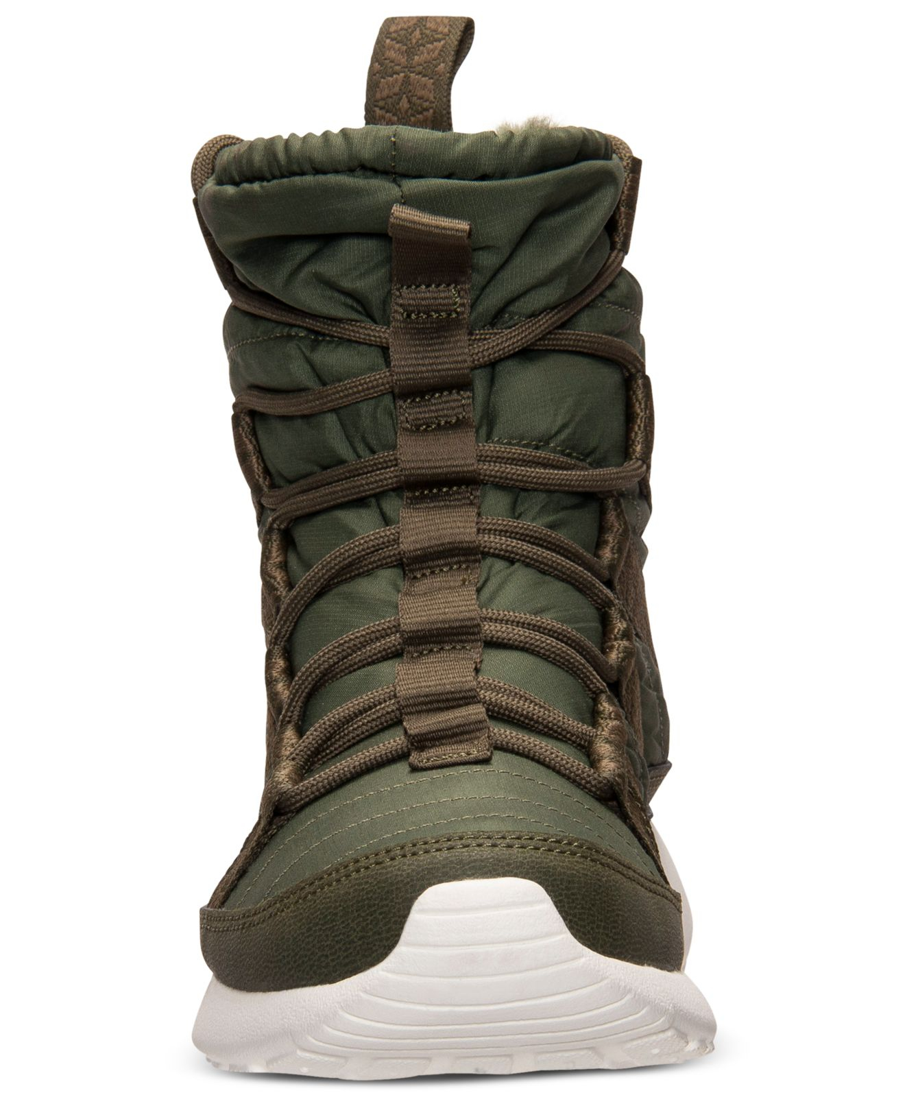 7abf5228e7e9 Lyst - Nike Women S Roshe Run Hi Sneakerboots From Finish Line in Green