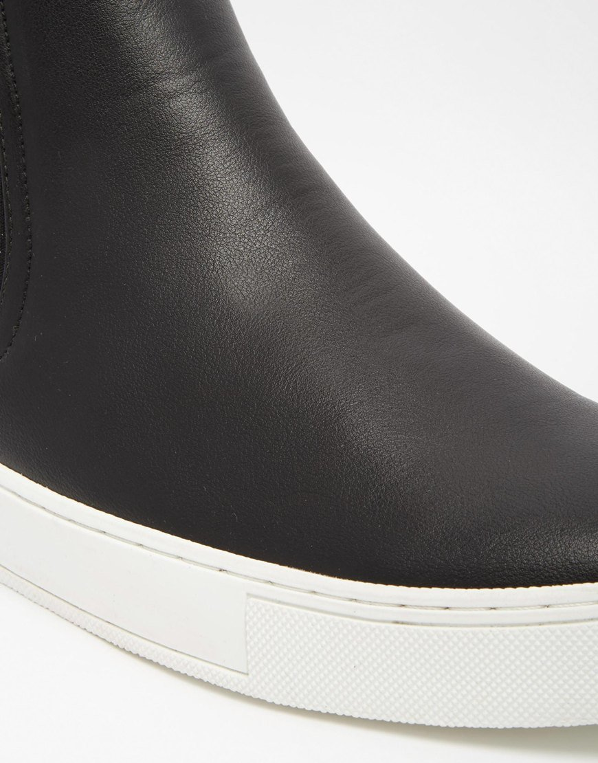 ASOS Chelsea Boots In Black With Chunky