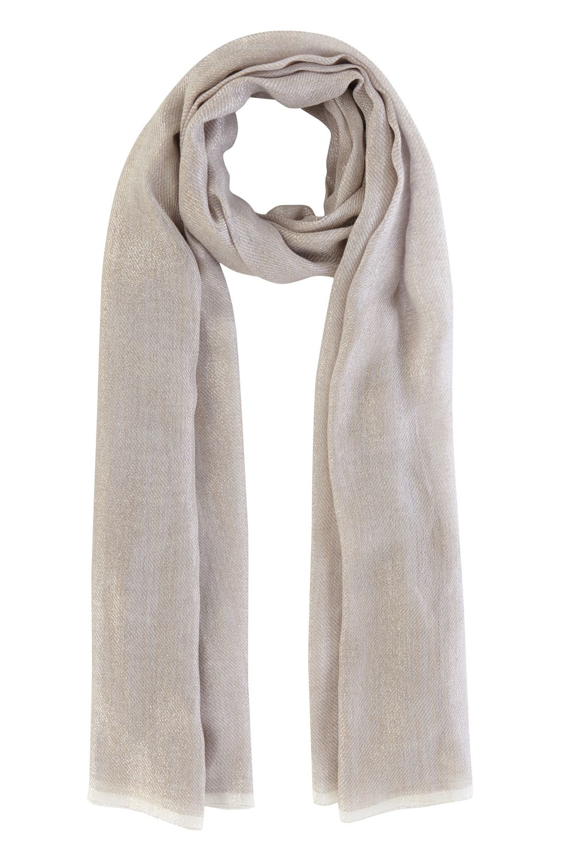 coast metallic scarf in metallic lyst