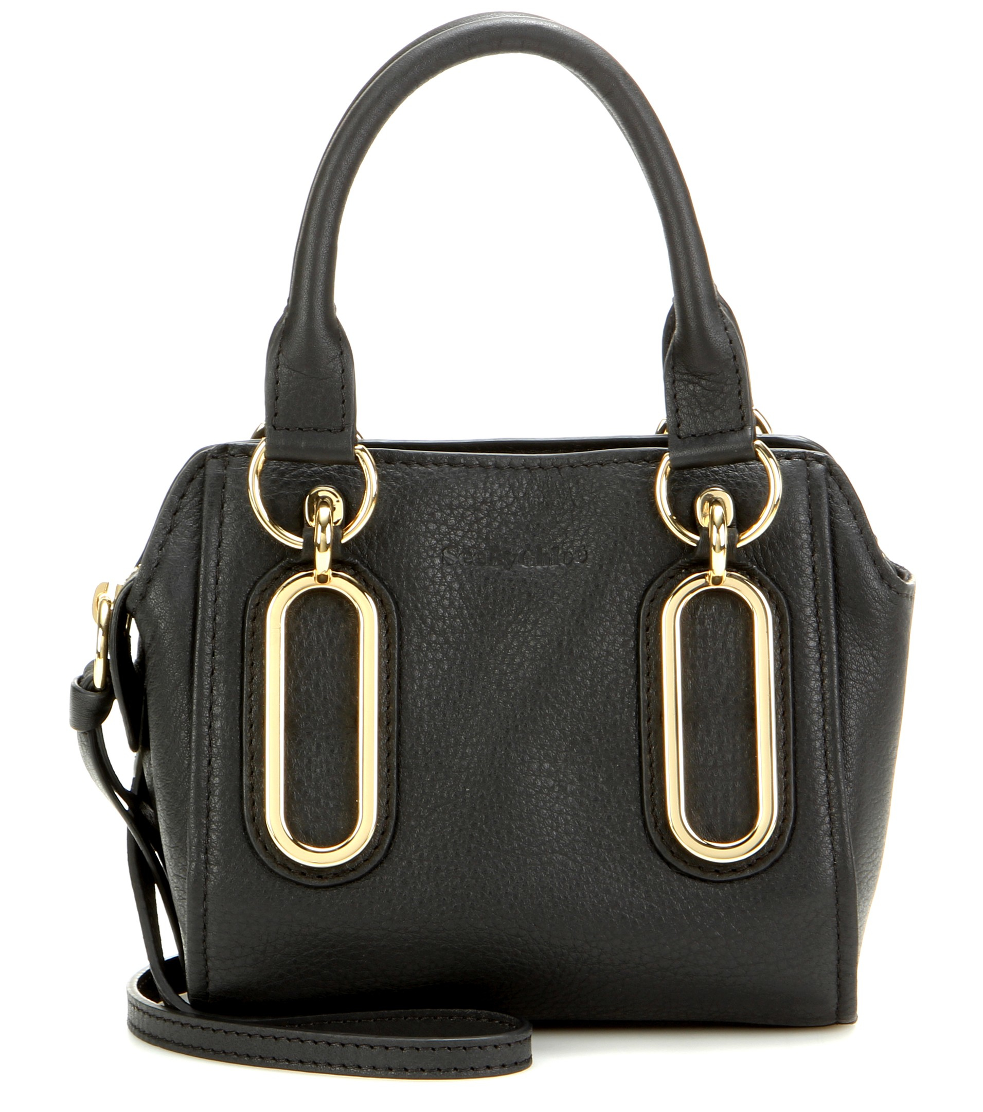 Lyst See By Chlo 233 Paige Mini Leather Shoulder Bag In