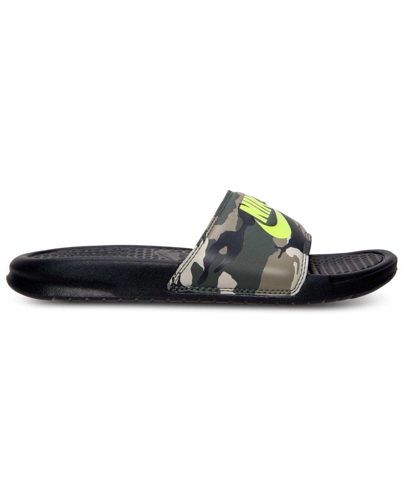 263bae325 ... cheap lyst nike mens benassi jdi print slide sandals from finish line  5c4a1 8652e