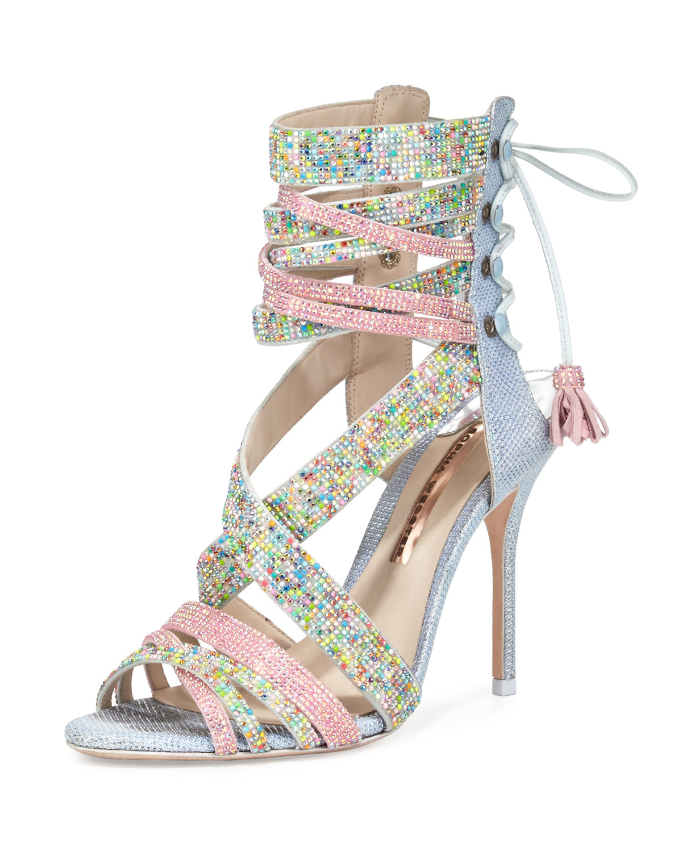 Sophia Webster Adeline Dreamy Crystal Lace Up Sandal Lyst