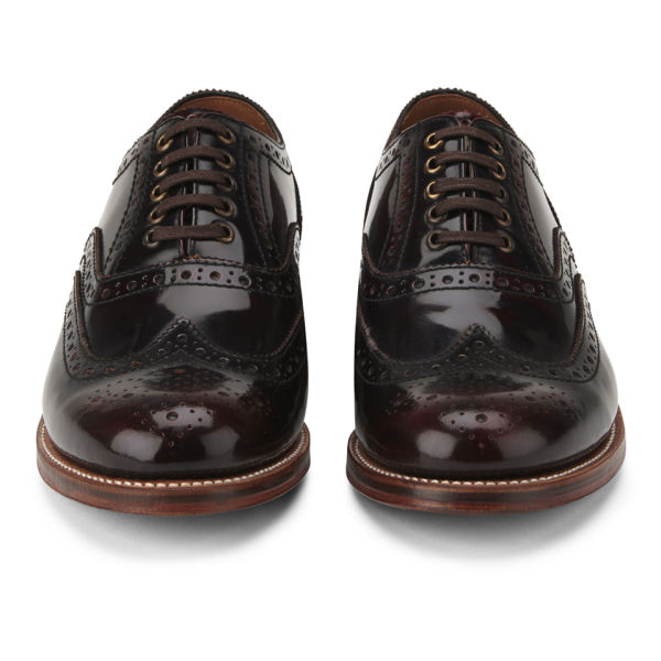 Foot The Coacher Mens Stanley Hishine Leather Brogues in Burgundy (Red) for Men
