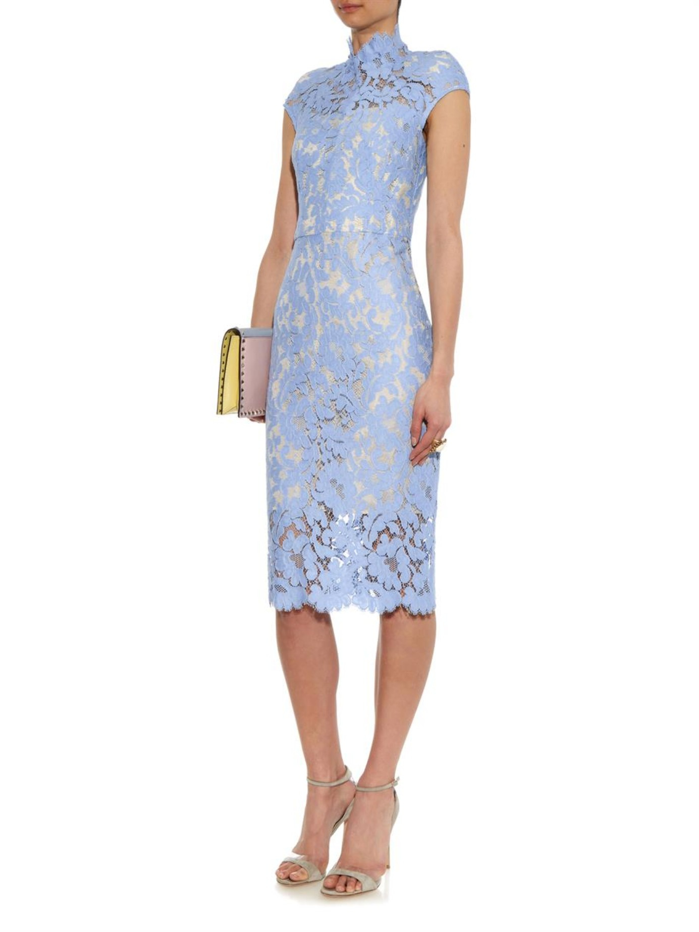 Ideal for wedding guests, a classic style for any occasion. Team your royal blue lace midi dress with a statement fascinator for wedding guest wear or a statement neckpiece for an /5(42).