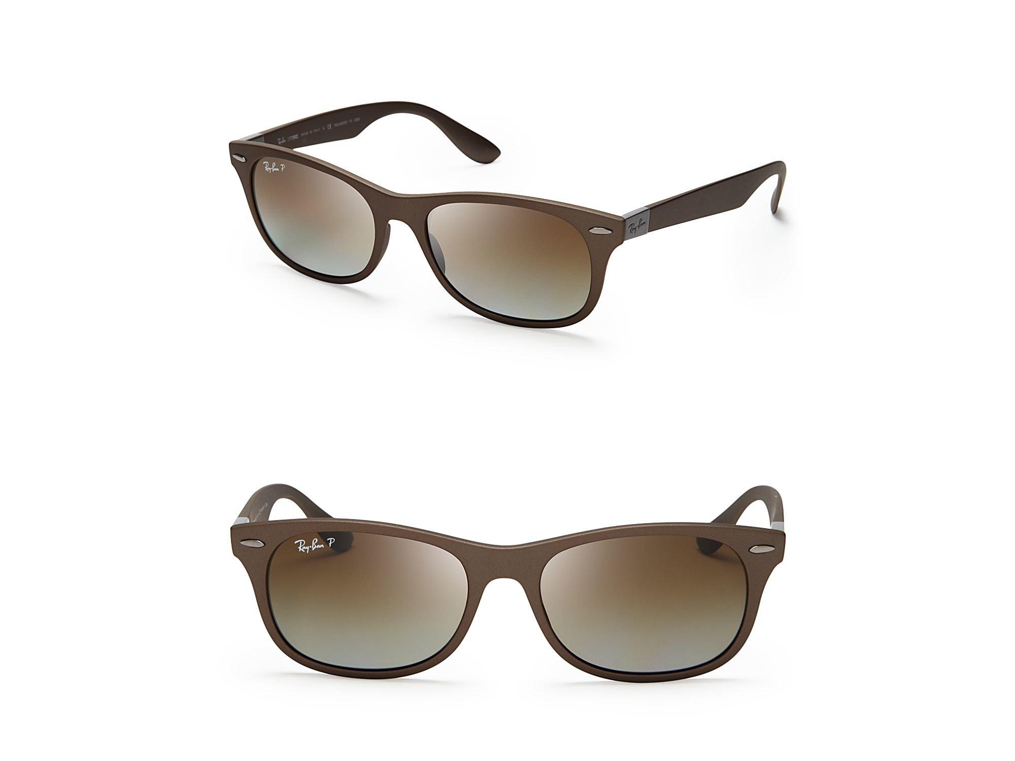5cd429b1556 Buy Ray-Ban Women s Brown Polarized New Wayfarer Lite Force Sunglasses