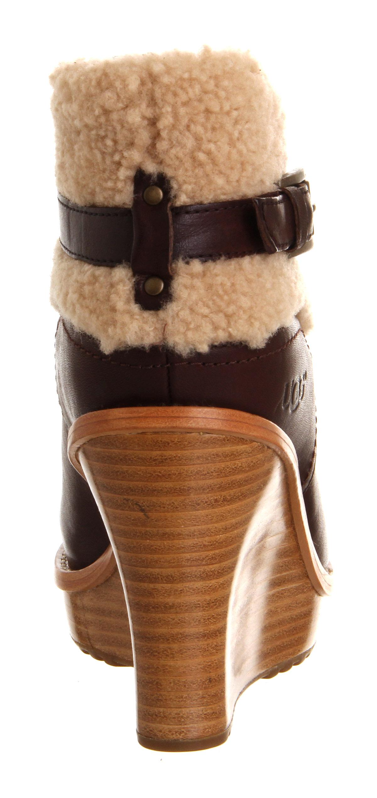 9b1b3b511443 Ugg Australia Anais Wedge Ankle Boot Mahogany