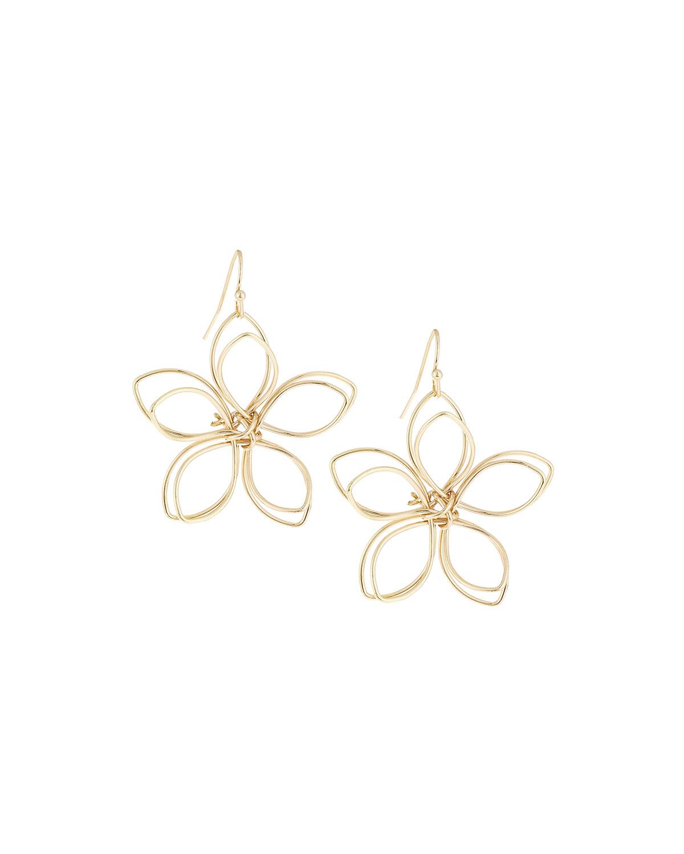 Lyst - Lydell Nyc Golden Wire Flower Drop Earrings in Metallic