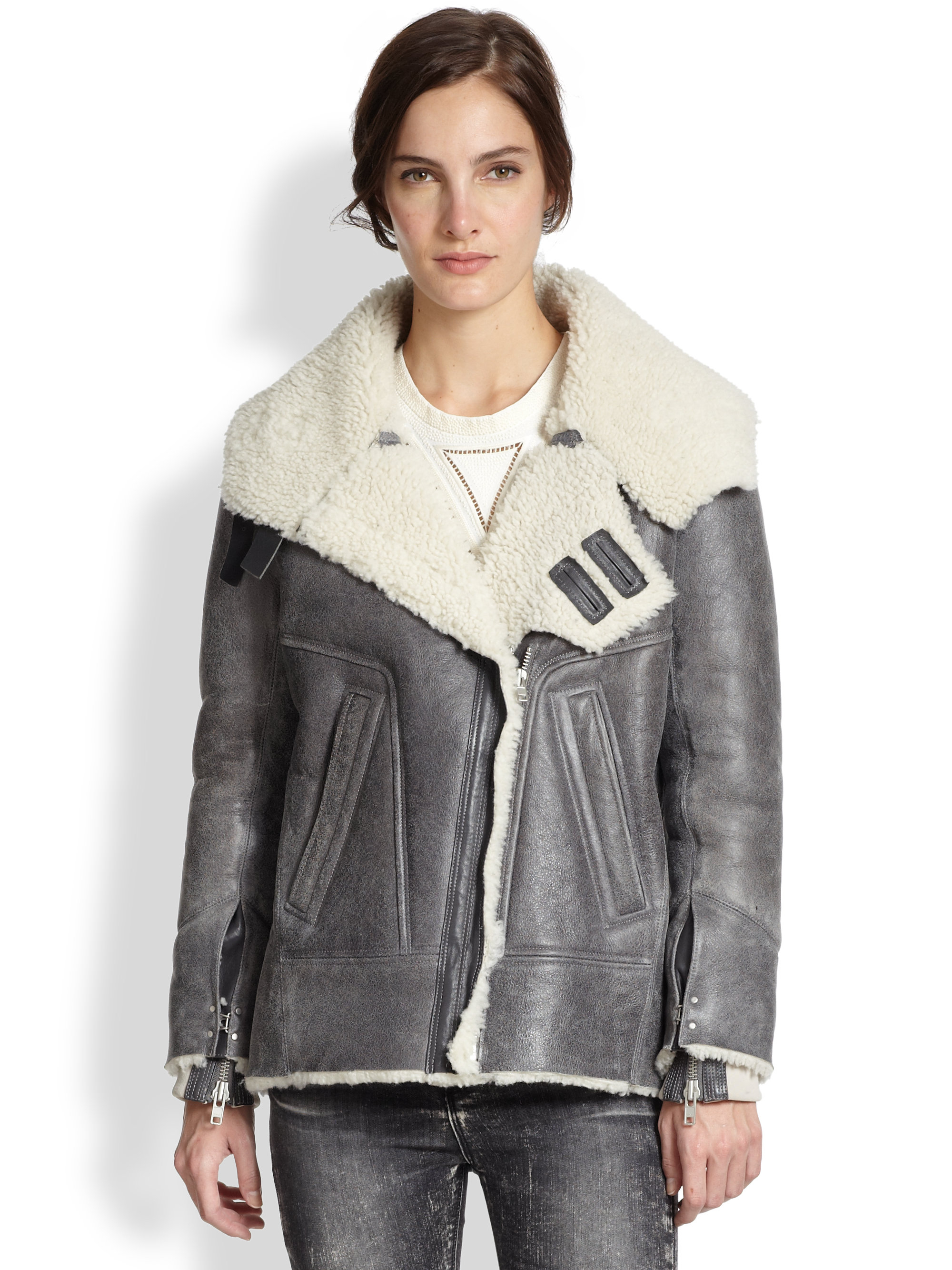 Leather shearling jackets